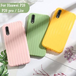 Luggage huawei p20 pro case Fashion Cute Suitcase Trunk TPU Silicone Back Cover huawei P20 P20 lite armor Coque Simple Pure Color Silicone phone case