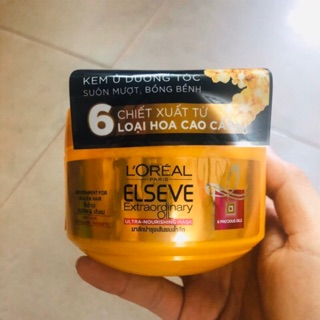Kem Ủ Tinh Dầu Hoa Tự Nhiên L Oreal Elseve Extraodinary Oil Nourish Mask 200ml