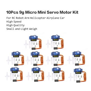 10Pcs 9g Micro Mini Servo Motor Horns for RC Robot Arm Helicopter Airplane Car