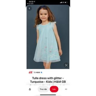 Váy HM ren xanh