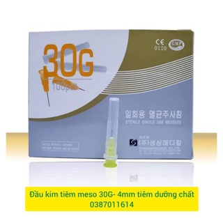 [Lẻ 1 cây] Kim meso 30G 4mm tiêm tinh chất