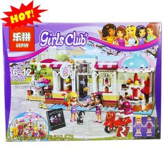 Bộ Lego Xếp Hình Bé Gái Friends Cửa Hàng Bánh Kem. Gồm 491 Chi Tiết. Lego Ninjago Lắp Ráp Đồ Chơi Cho Bé.