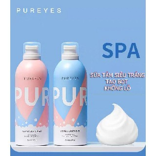 [Chính Hãng] Sữa Tắm Dưỡng Ẩm Trắng Da Pureyes, Sữa Tắm Trắng Da Tạo Bọt Pureyes 350ml