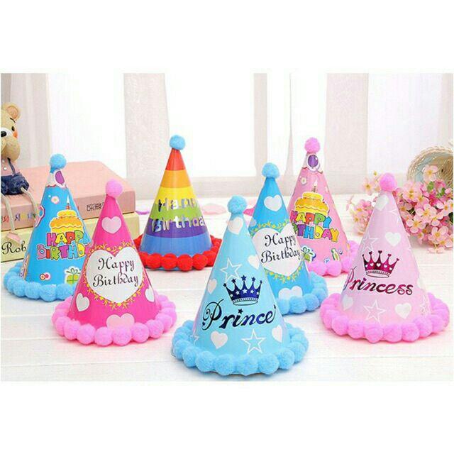 Mũ sinh nhật quả bông cho chủ tiệc