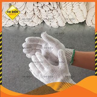 Găng tay len bảo hộ chống trầy xước, chống trơn trượt, co giãn tốt, dày 60G