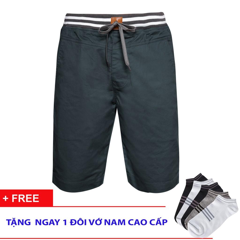 Quần short kaki nam bo thun cao cấp piuos kkb001( tặng vớ)