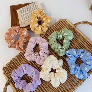 Scrunchies họa tiết hoa tiên cực xinh thumbnail