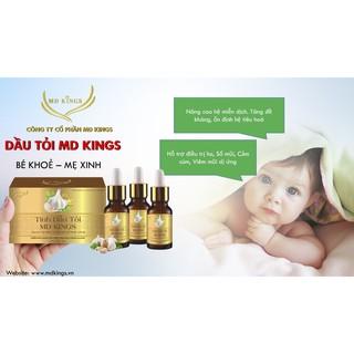 Tinh dầu tỏi MD Kings 30ml – giảm cảm cúm cảm lạnh cảm vặt cho mẹ và bé