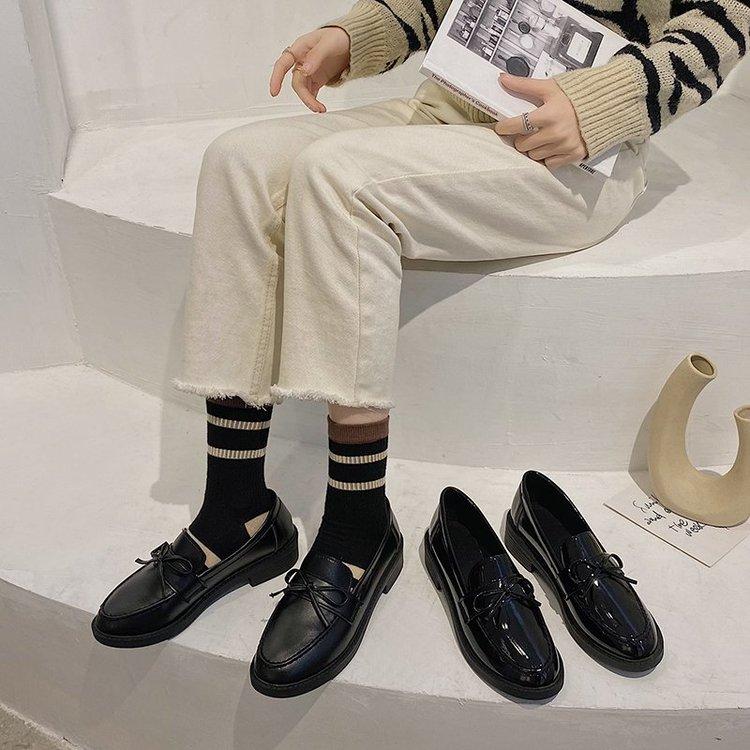 Giày Lười Đính Nơ Xinh Xắn Dành Cho Nữ