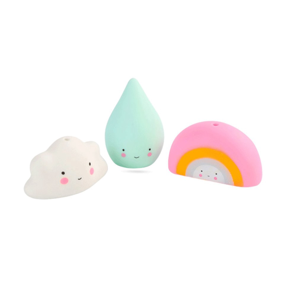 Kawaii Cute Swimming Water Toys Colorful Soft Floating For Baby Bath Toys