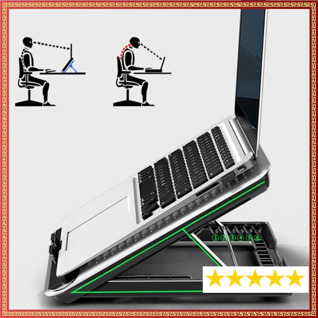 ❤️  Đế Tản Nhiệt Máy Tính Laptop Macbook NuoXi Q5 Vỏ Hợp Kim Nhôm Cực Bền, Chắc Chắn