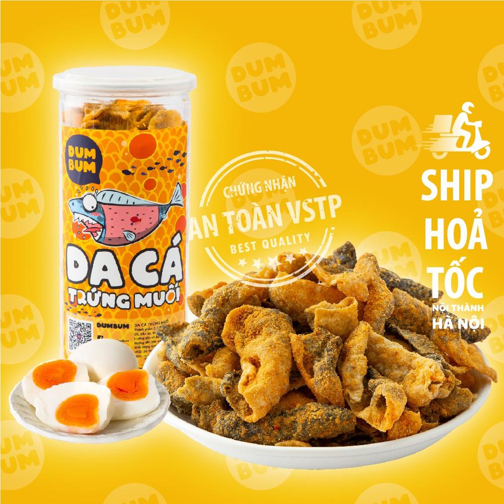 Da cá trứng muối 250g DumBum, đồ ăn vặt Hà Nội, vừa ngon vừa rẻ