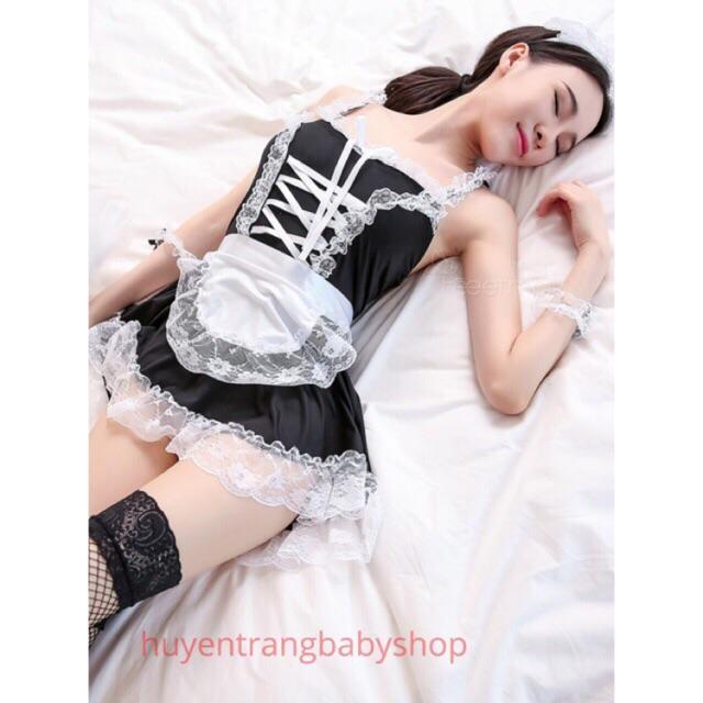 Mặc gì đẹp: Ngủ ngon hơn với Cosplay sexy hầu gái xinh xắn , váy ngủ đồ ngủ anime 2 dây gợi cảm set thỏ mèo  #cosplaysexy #haugai