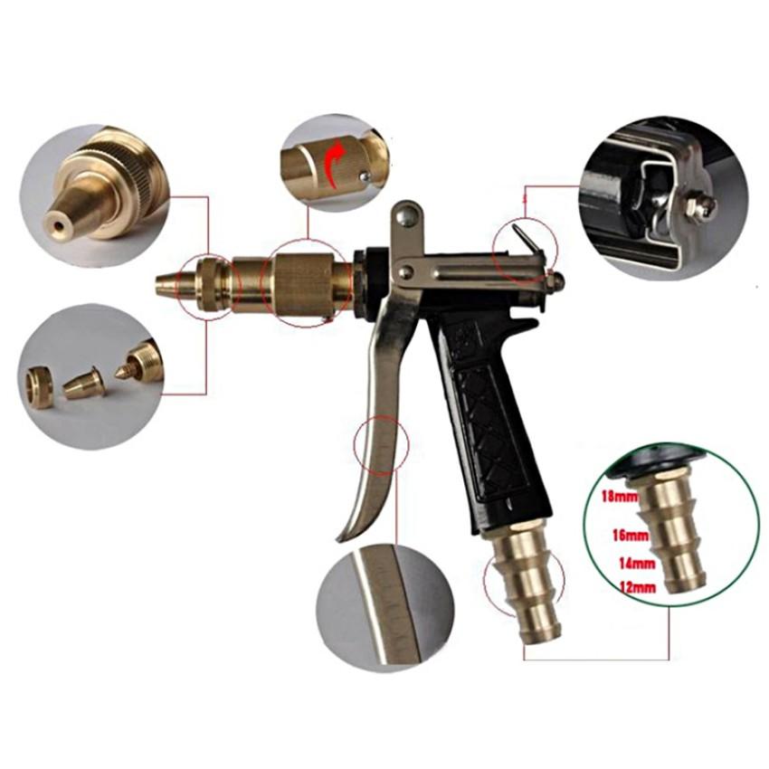Súng xịt rửa chuyên nghiệp tăng áp lực nước 206236 + Tặng 1 găng tay lau xe đa năng M 241.