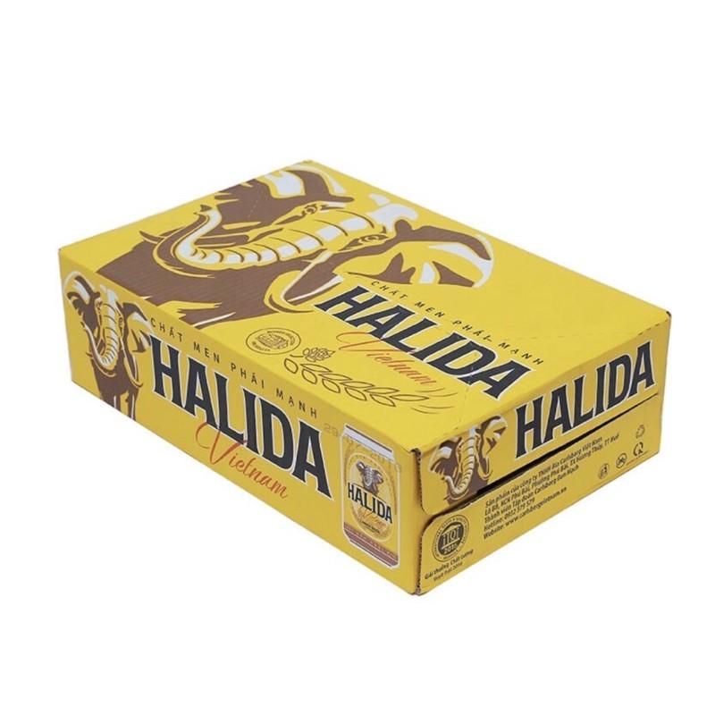 Thùng 24lon bia Halida 330ml