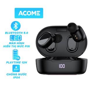 Tai Nghe Không Dây ACOME Airdots T1 Bluetooth 5.0 Màn Hình LED Play Time Lên Đến 12h