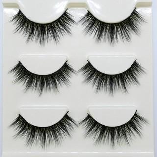 Mi giả lông chồn 3D 3PCS 3 fashion eyelashes 3 Faux-Cils một set 3 cặp 3D-21 đến 3D-28 thumbnail