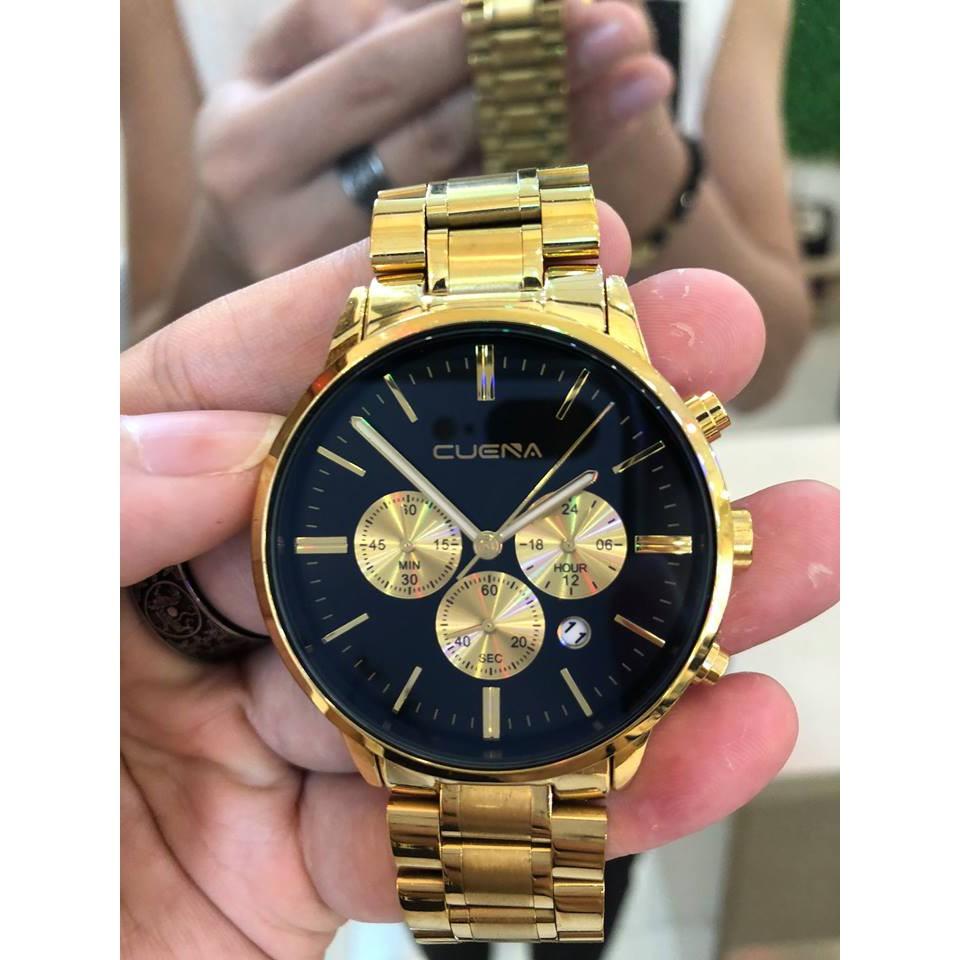 (Giá siêu rẻ) Đồng hồ nam CUENA  Doanh nhân XMEN STORE FULLBOX + tặng kèm cặp DÂY DA +VÒNG TAY PHONG