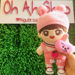 Doll BTS Jungkook bộ yếm hồng