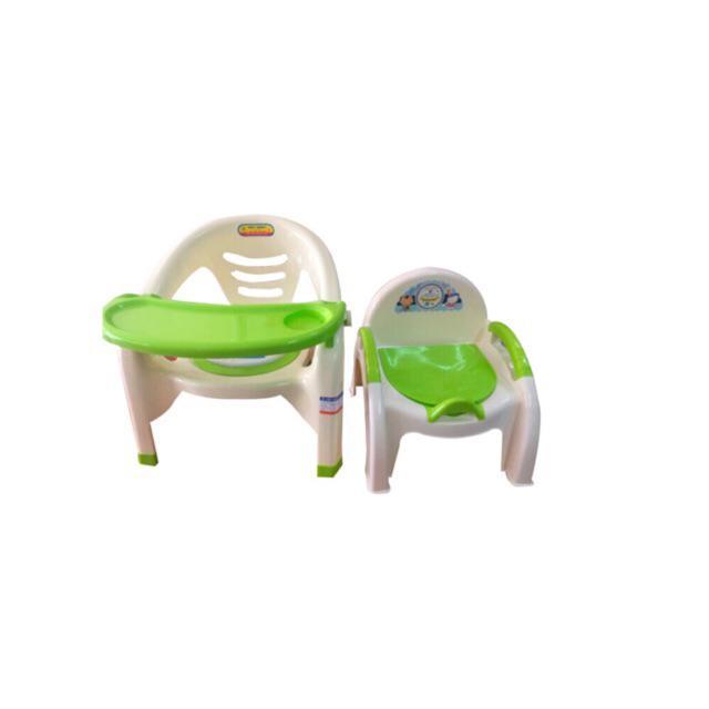 Combo ghế ăn dặm + Ghế bô+ đồ chơi xắc xô cho bé