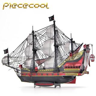 Mô hình lắp ghép 3d kim loại tàu Queen Anne's Revenge (bản màu)