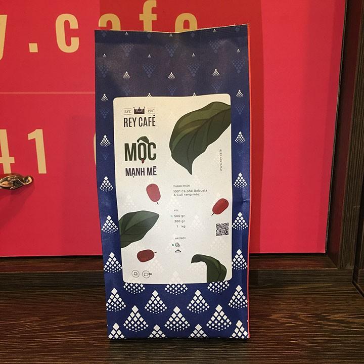Cà phê Mộc Mạnh Mẽ - Thành phần hạt Coffee Robusta & Culi nguyên chất rang mộc - Rey Cafe