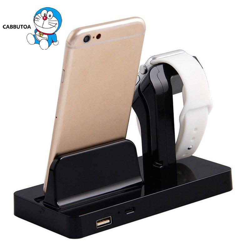 Đế Sạc 2 Trong 1 Cho Đồng Hồ Thông Minh Apple Iphone
