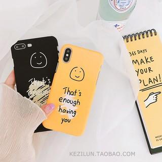 Graffiti tiếng anh dễ thương cười iphone6 vỏ điện thoại di động iphone7plus vỏ cứng