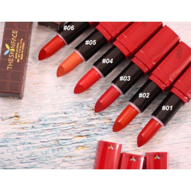 Son The Skin Face Luxury Bote Red Lipstick Phiên Bản vỏ đỏ