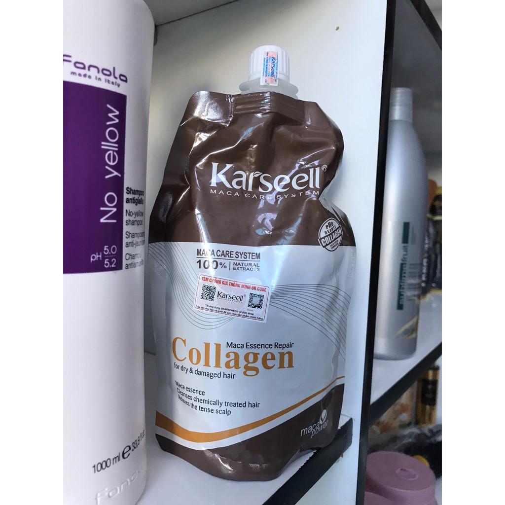 [Rẻ Vô Địch] Kem Hấp - Ủ- Xả Phục Hồi Tóc Collagen Karseell Maca Dạng Túi 500ml