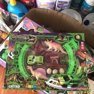Hộp đồ chơi khủng long đường ray