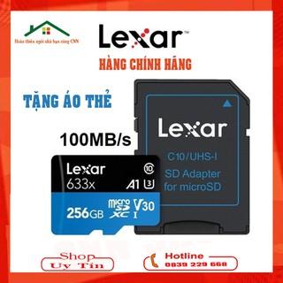 Thẻ nhớ MciroSD LEXAR 256GB Chuẩn U3 Class 10 Chính hãng – Thích hợp lắp cho Cam Ezviz C6N Kbone H21P B21F B21 Imou F22P