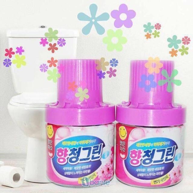 Chai thả bồn cầu khử khuẩn hương hoa Hàn Quốc - 2637651 , 200483253 , 322_200483253 , 50000 , Chai-tha-bon-cau-khu-khuan-huong-hoa-Han-Quoc-322_200483253 , shopee.vn , Chai thả bồn cầu khử khuẩn hương hoa Hàn Quốc