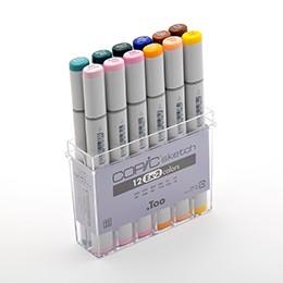 Bộ 12 màu bút marker Copic Sketch Set Ex-2 - 3184705 , 968758138 , 322_968758138 , 1150000 , Bo-12-mau-but-marker-Copic-Sketch-Set-Ex-2-322_968758138 , shopee.vn , Bộ 12 màu bút marker Copic Sketch Set Ex-2