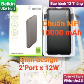 Sạc dự phòng Belkin Pocket Power 10000mAh - F7U020BT, chuẩn MFI [Music4U] thumbnail
