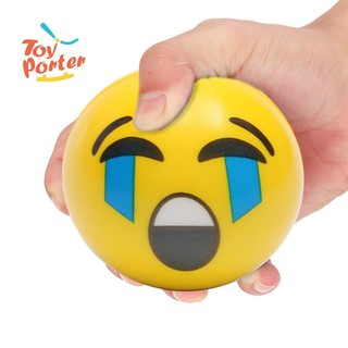 Kids Face Expression Squeeze Ball PU Hand Wrist Exercise Stress Relief Toys