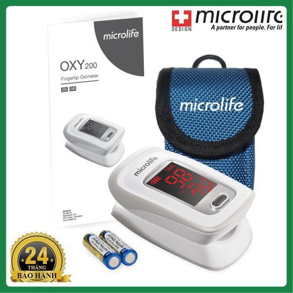 Máy đo nồng độ OXY trong máu và nhịp tim Microlife SPO2 OXY200 - Chính Hãng Thụy Sĩ Bảo hành 24 tháng