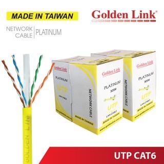 [Mã 1510ELSALE hoàn 7% đơn 300K] Thùng cuộn 100M cáp mạng Golden Link UTP Cat6 thumbnail
