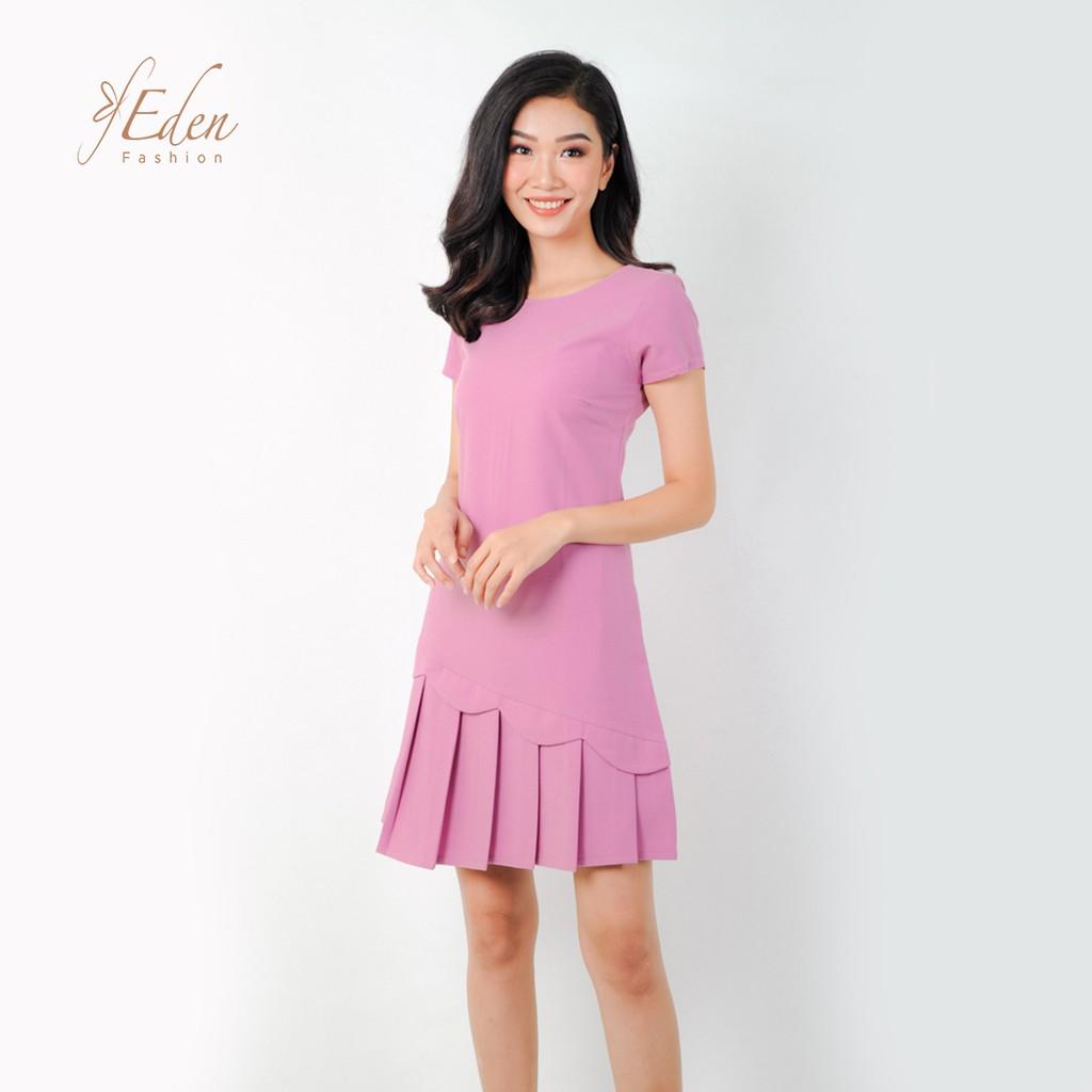 Đầm suông thời trang Eden tà xếp li thanh lich chất liệu cao cấp thoáng mát - D274 Giá tốt nhất