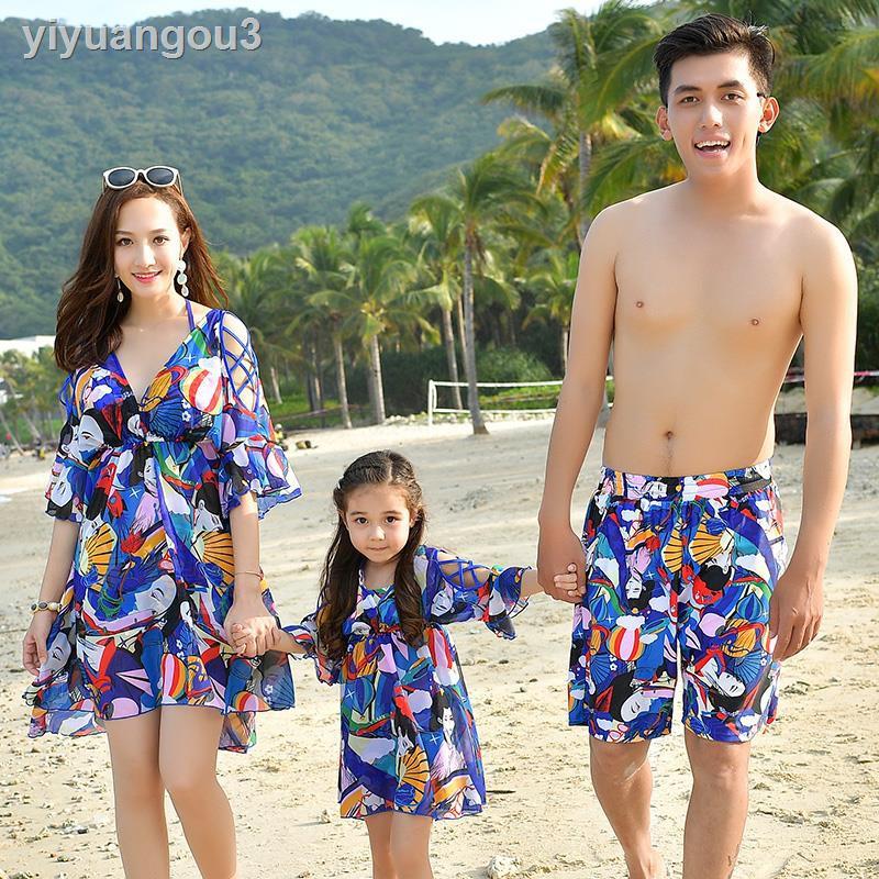 Bộ Đồ Bơi Ba Mảnh Thời Trang Cho Mẹ Và Bé