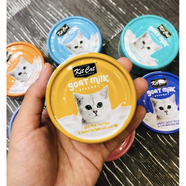 [HCM]Pate sữa dê KitCat cho mèo / Lon 70gr