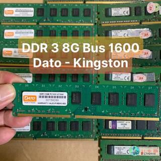 DDR3 Ram 8G - DDR3 - BUS 1600 Hiệu Dato,Kingston chân Ram Vàng Không Kén Main - Vi Tính Bắc Hải thumbnail