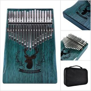 17 Keys Wooden Kalimba African Mahogany Thumb Piano Finger Percussion Music
