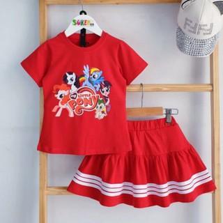 Sét Váy Bé Gái Đầm Pony bộ áo váy Pony cho bé gái Mềm Mát size nhí đại 1-15