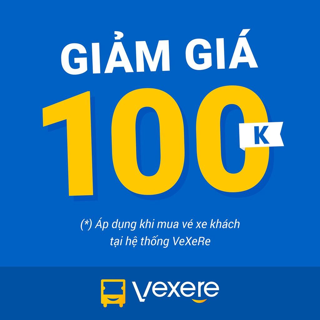 Toàn Quốc [E-Voucher] Voucher giảm 100.000đ khi mua vé xe tại hệ thống VeXeRe
