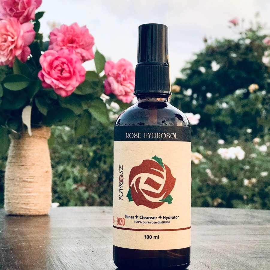 (DATE MỚI NHẤT, 100ml) Nước hoa hồng Karose Hydrosol toner 100% nguyên chất, không gây kích ứng