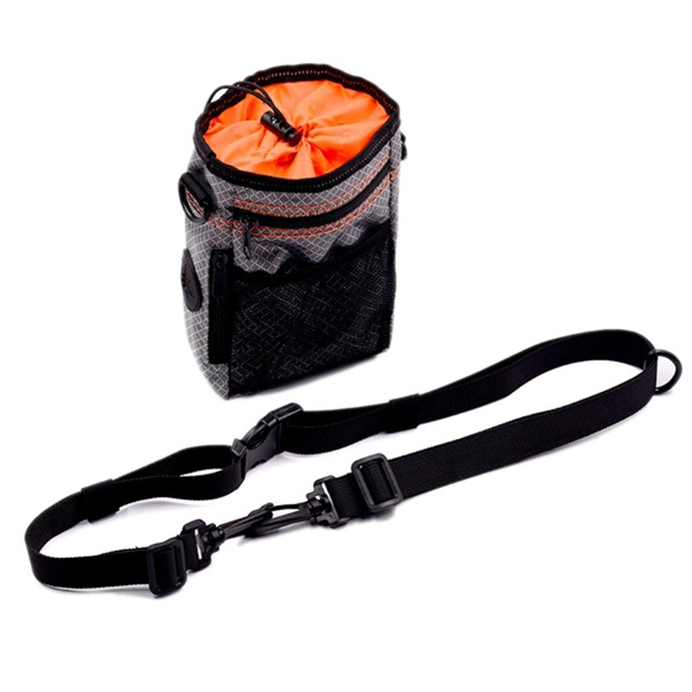 Dog Oxford Fabric Storage Pouch Poop Bag Dispenser Training Treat Travel Zipper Drawstring With Collapsible Bowls