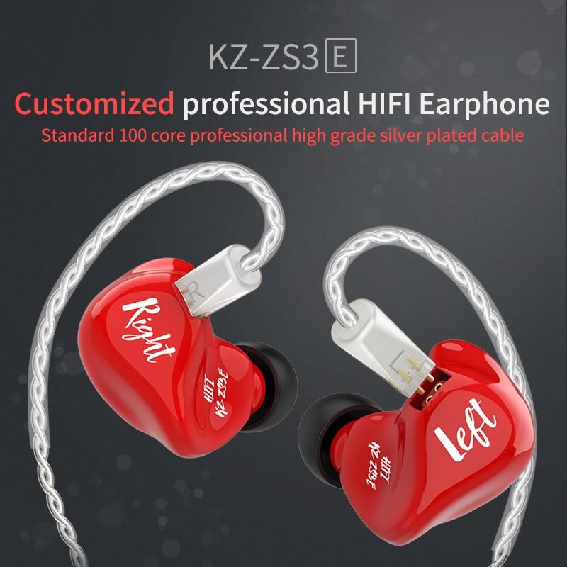 Tai nghe chống ồn KZ ZS3E 1DD Unit ạm thanh Hifi KZ ZS10