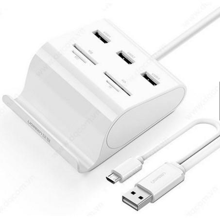 RẺ VÔ ĐỊCH Hub USB 3.0 kèm đầu đọc thẻ nhớ và OTG UGREEN 30343
