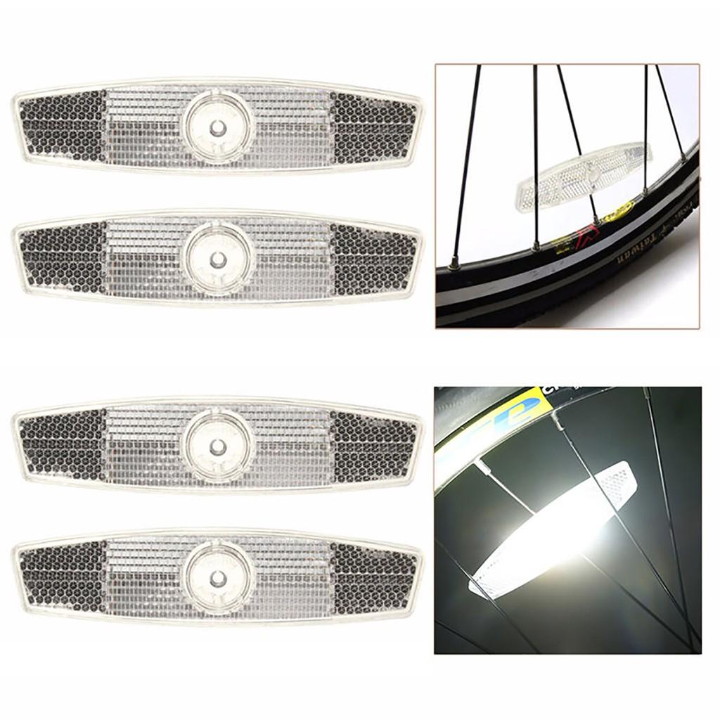 4PCS Bike Bicycle Wheel Spoke Reflector Lamp Warning Safety Reflector Light gogoxpmall